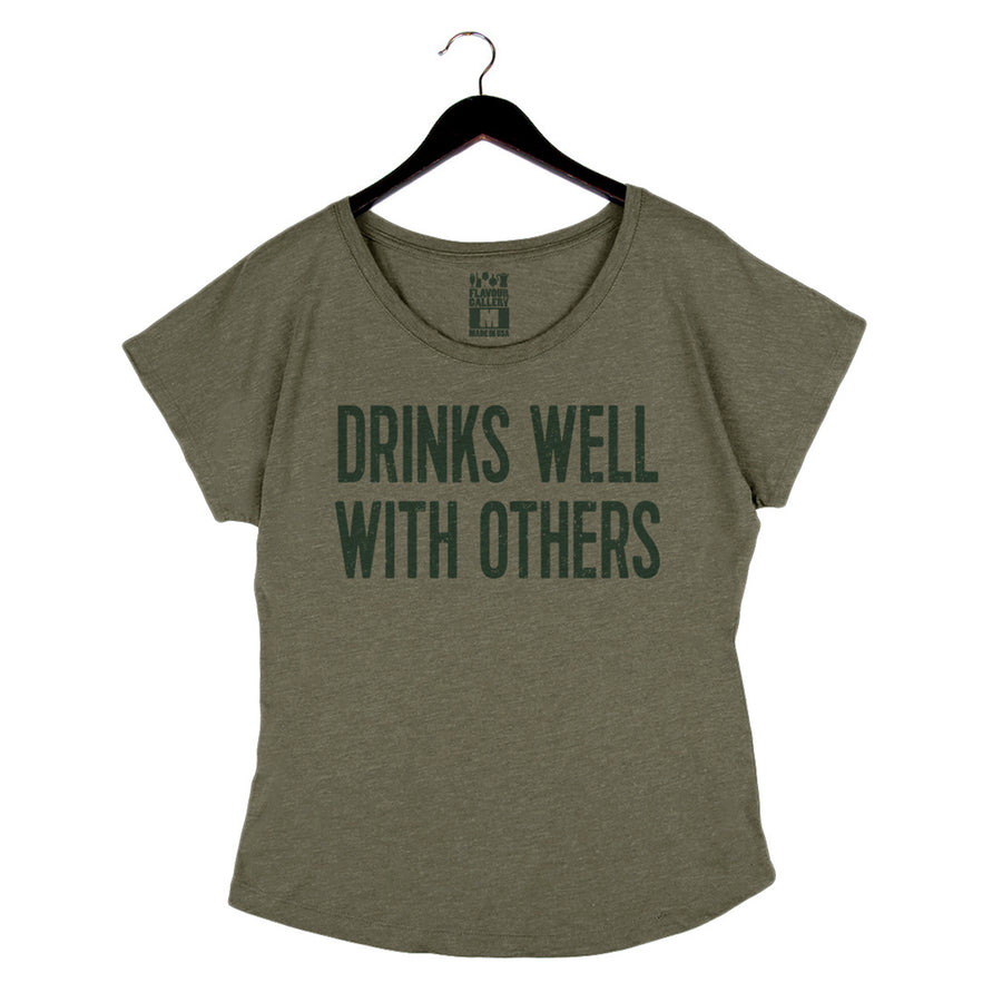 Drinks Well With Others - Women's Dolman - Military Green