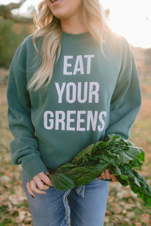 Eat Your Greens - Crewneck Sweatshirt