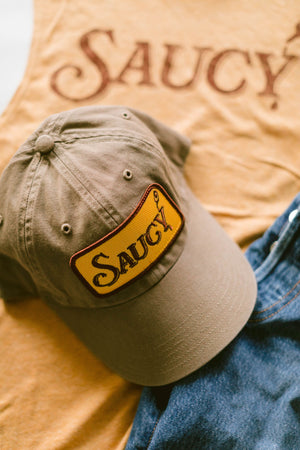 Saucy - Dad Cap - Driftwood