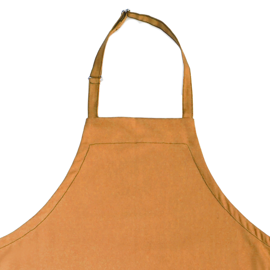 Full Bib Chef's Apron - Gold