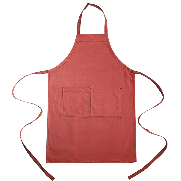 Full Bib Chef's Apron - Nautical Red