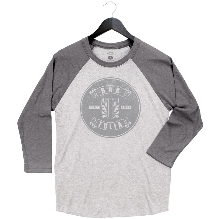 Bar Tulia - Baseball Tee - White/Grey