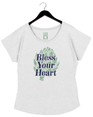 Bless Your Heart - Women's Dolman - White