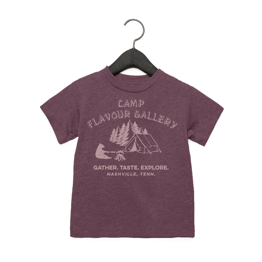 Camp Flavour Gallery - Toddler Jersey Tee - Heather Maroon