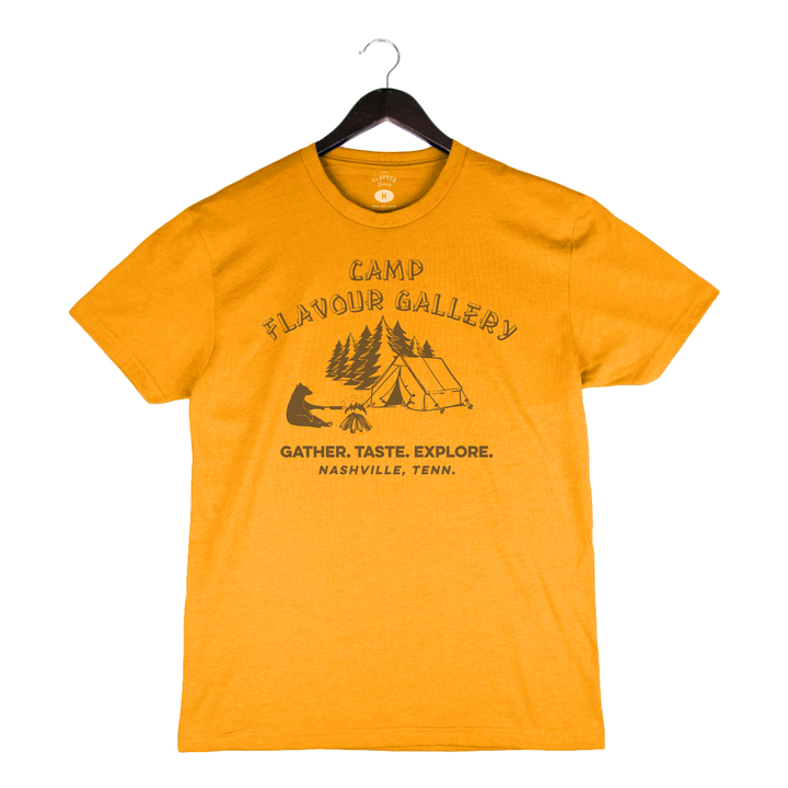 Camp Flavour Gallery - Unisex/Men's Crew - Antique Gold