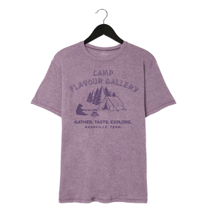 Camp Flavour Gallery - Unisex/Men's Keeper Tee - Vintage Iris