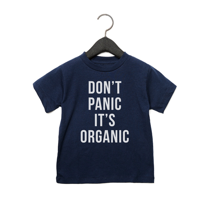 Don't Panic It's Organic - Toddler Jersey Tee - Navy