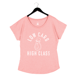 Low Carb High Class By Flavcity - Women's Dolman - Pink