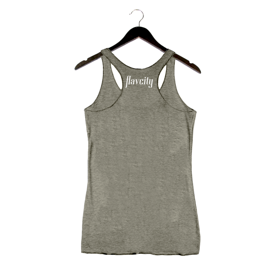 Low Carb High Class By Flavcity - Women's Racerback Tank - Venetian Gray