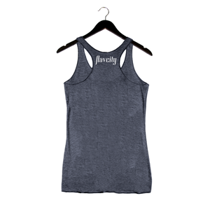Pasture Raised By Flavcity - Women's Racerback Tank - Navy