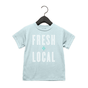 Fresh + Local - Toddler Jersey Tee - Ice Blue
