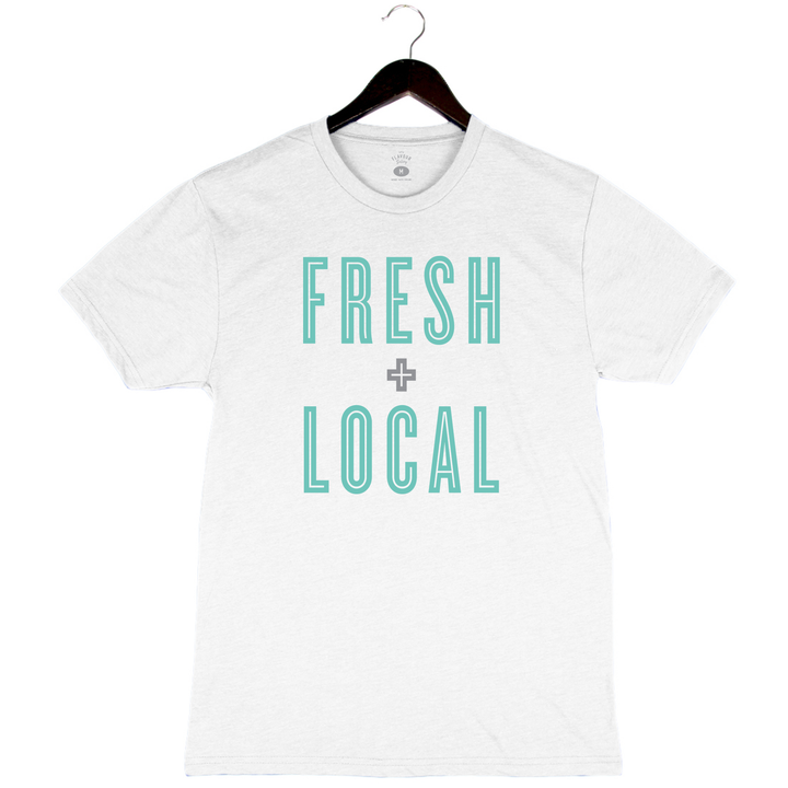 Fresh + Local - Unisex/Men's Crew - White