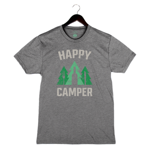 Happy Camper - Unisex/Men's Crew - Heather Grey