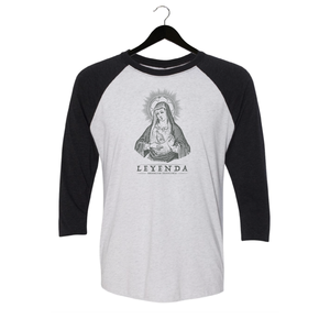 Leyenda - Mary - Baseball Tee - White/Black
