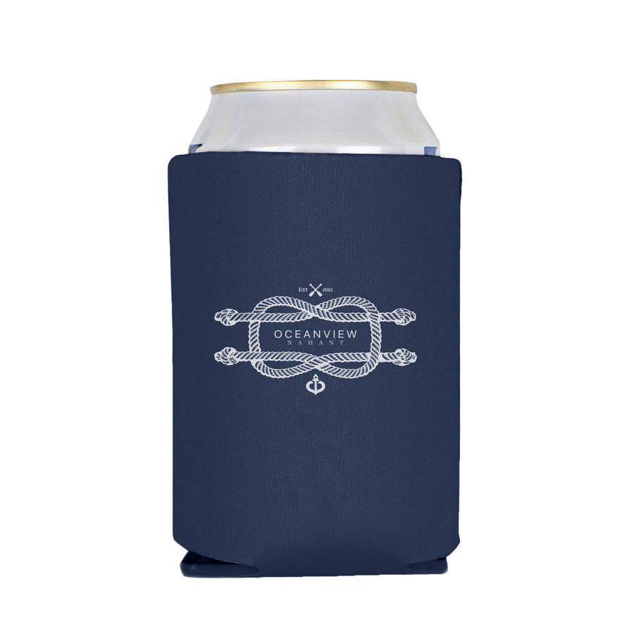 Oceanview Of Nahant - Celebratin' Love - Koozie - Navy
