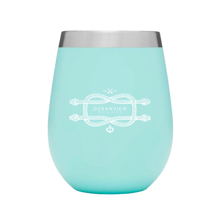 Oceanview Of Nahant - 12 oz. Travel Wine Tumbler - Mint