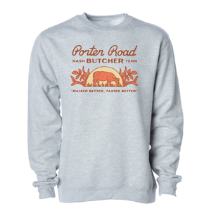 Porter Road - Unisex/Men's Crewneck Sweatshirt - Heather Grey