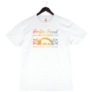Porter Road - Unisex/Men's Crew - White