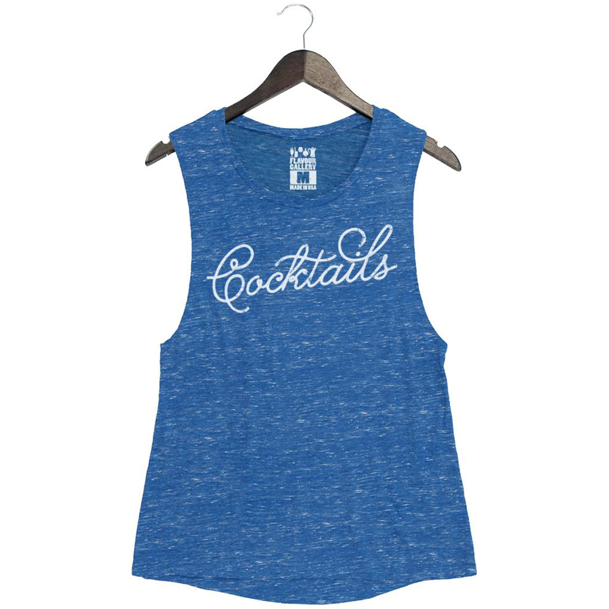 Cocktails Women S Muscle Tank Royal Marble Blue Flavour Gallery