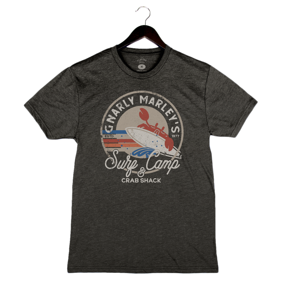 Surf Camp - Unisex/Men's Crew - Charcoal