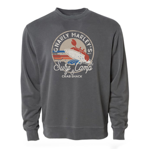 Surf Camp - Unisex Crewneck Sweatshirt - Pigment Black