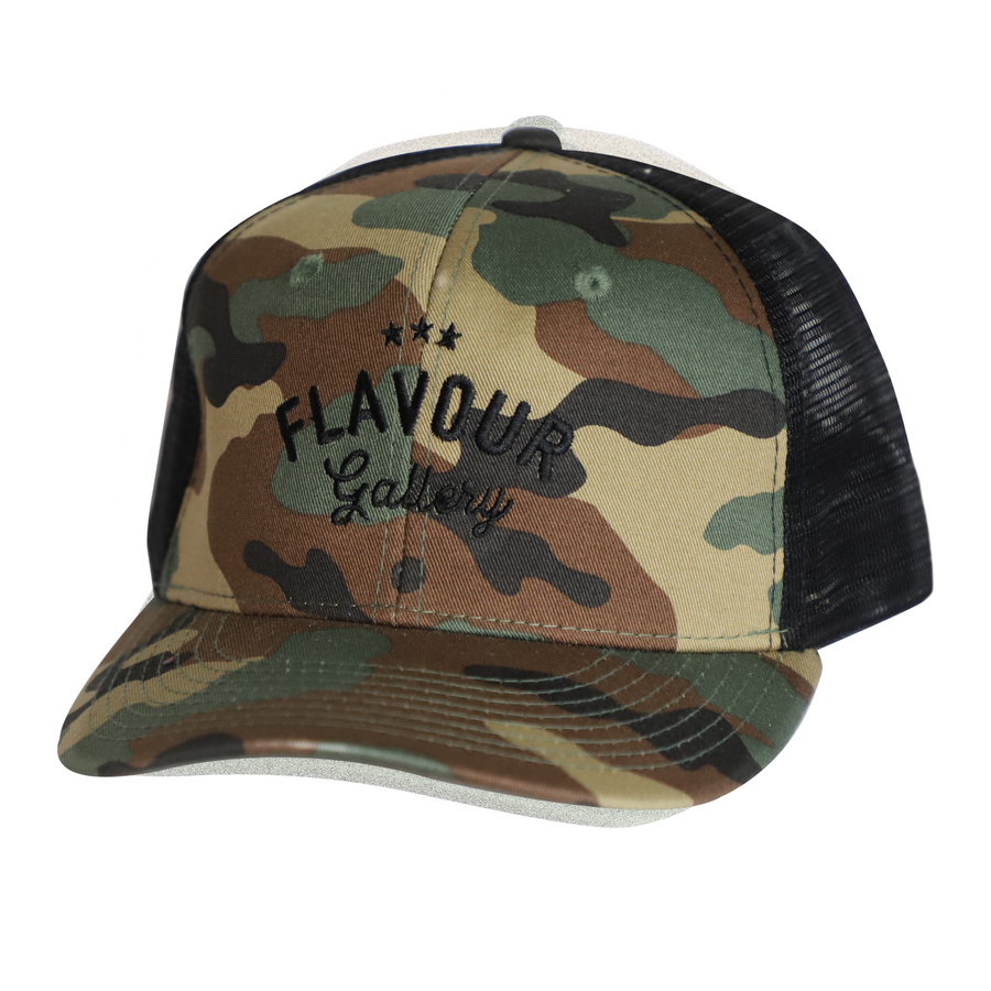 Flavour Gallery New Logo - Trucker Cap - Camo/Black