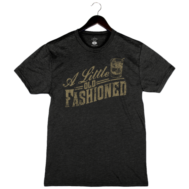 Little Old Fashioned - Unisex/Men's Crew - Charcoal Black
