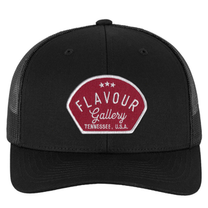 Flavour Gallery Red Patch - Trucker Hat - Black