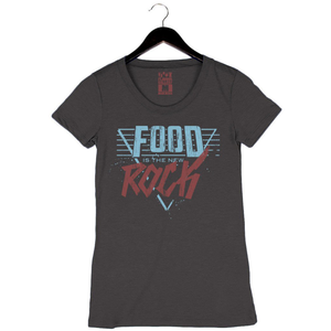 Food Is The New Rock '87 - Women's Crew - Black