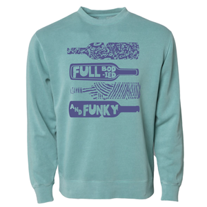 @SAMANTHASOMMELIER - Full Bodied & Funky - Pigment-Dyed Crewneck Sweatshirt - Mint
