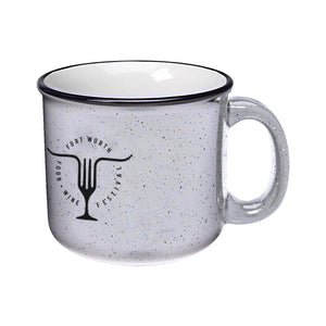 Fort Worth Food + Wine '19 - 13 oz Campfire Mug - White