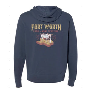 Fort Worth Food + Wine '19 - Texas - Unisex Zip Hoodie