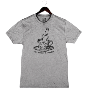 Whiskey In A Teacup - Unisex/Men's Crew - Athletic Grey
