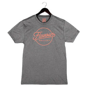 Flavour Gallery Script - Unisex/Men's Crew - Heather Grey