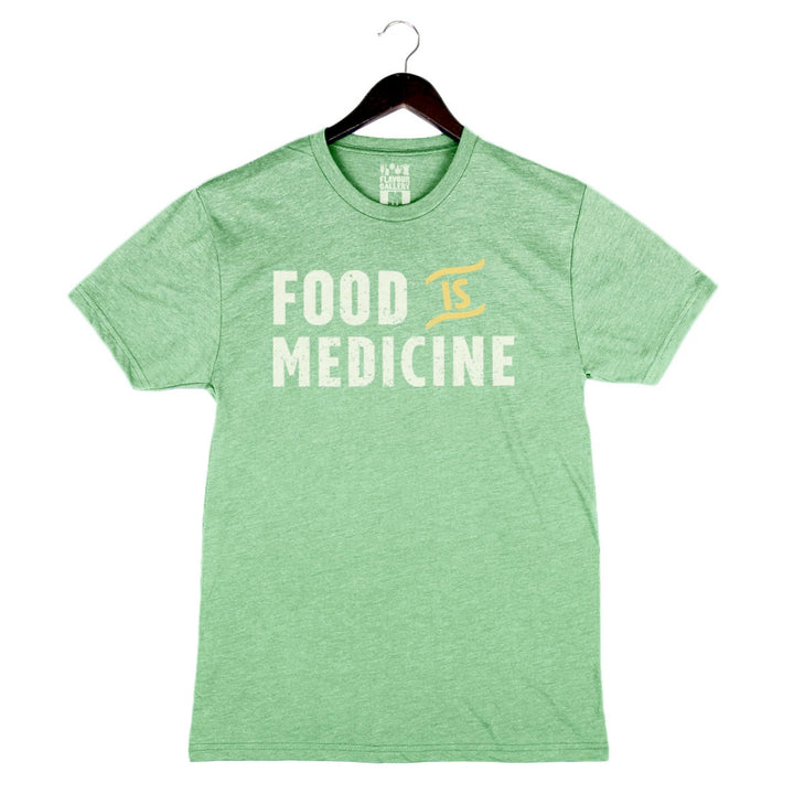 Food Is Medicine by Pete Evans - Unisex/Men's Crew - Green