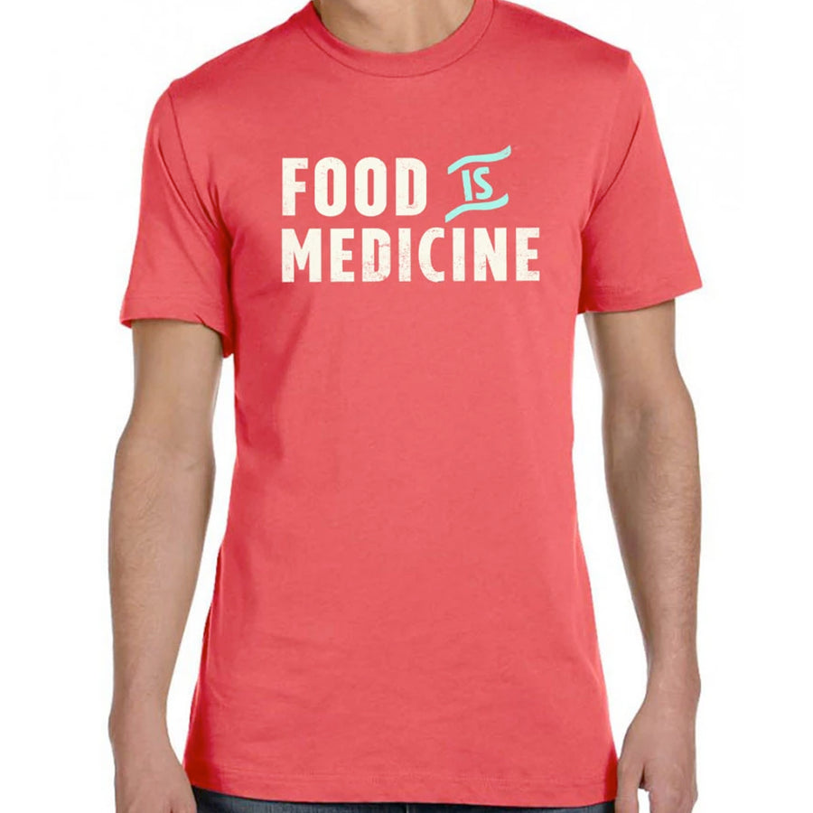 Food Is Medicine by Pete Evans - Unisex/Men's Crew - Red