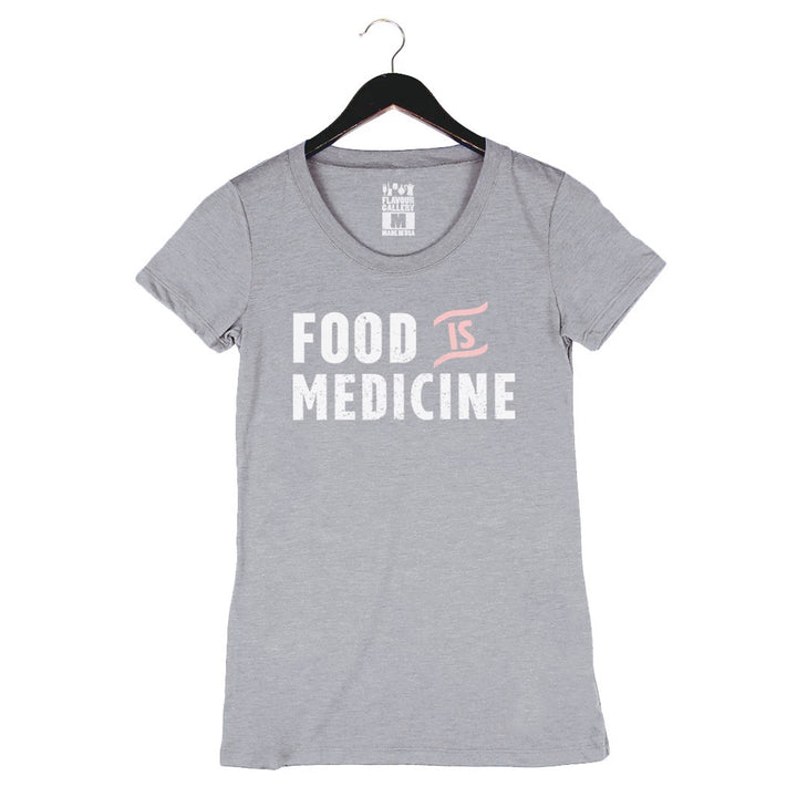 Food Is Medicine by Pete Evans - Women's Crew - Heather Grey