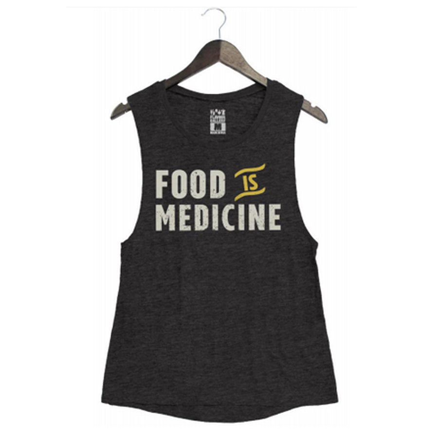Food is Medicine by Pete Evans - Women's Muscle Tank - Black
