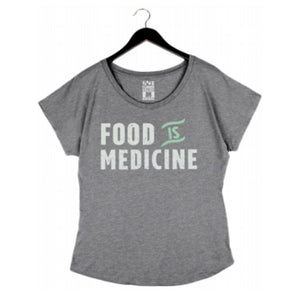 Food is Medicine by Pete Evans - Women's Dolman - Heather Grey
