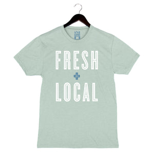 Fresh + Local - Men's/Unisex Crew - Dusty Blue