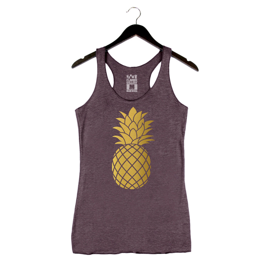 Golden Pineapple - Women's Tank - Vintage Purple