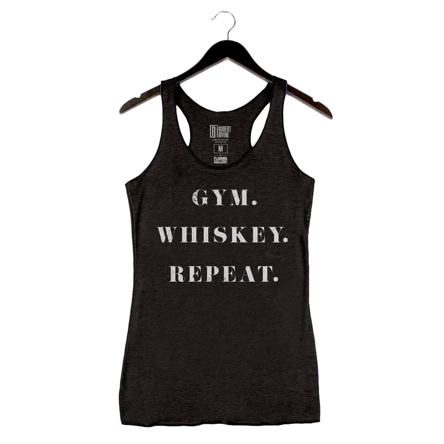 Gym Whiskey Repeat by Robert Irvine - Women's Tank - Black