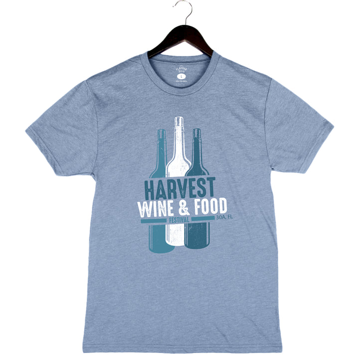 Harvest WFF '19 - Bottles - Unisex/Men's Crew - Denim