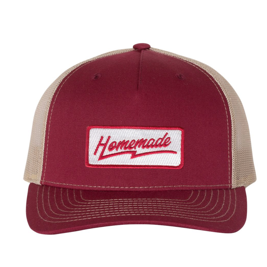 Homemade - Trucker Hat - Cardinal/Tan