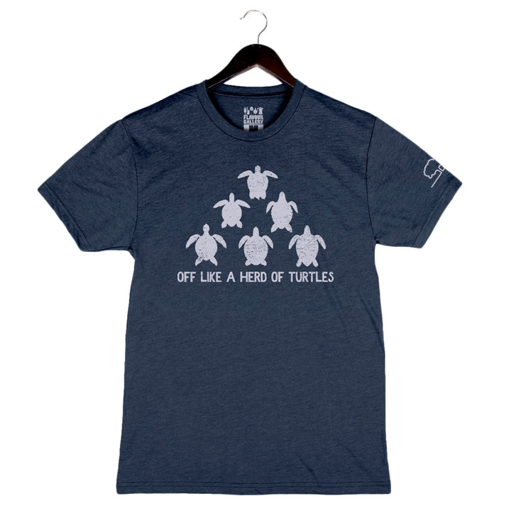 Herd of Turtles by Tupelo Honey - Unisex/Men's Crew - Navy