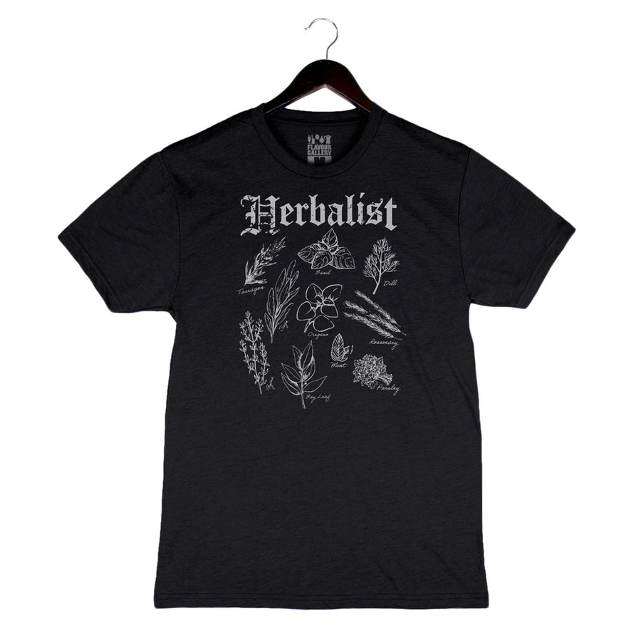 Herbalist - Unisex/Men's Crew - Charcoal Black