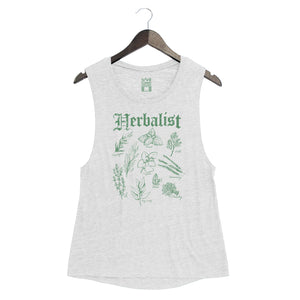 Herbalist - Women's Muscle Tank - White