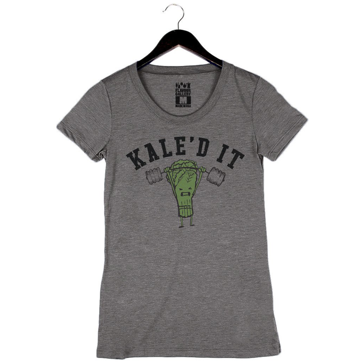 Kale'd It - Women's Crew - Heather Grey
