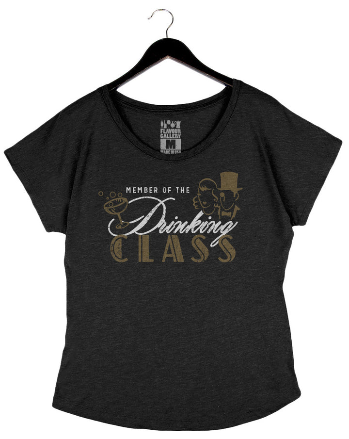 Member Of The Drinking Class - Women's Dolman - Vintage Black