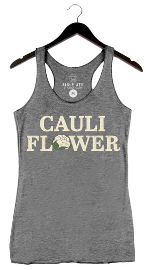 Beyond The Plate - Cauliflower - Women's Tank - Grey